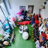 Mon Zoo 🦩🐕🦓🦒🦏🐢 💙  #showroom #atelierdartiste #depotvente #ilovemyjob❤️ #brignais #ccvg #artist #colorful #statuedesign #decorationinterieure #decoaddict #onlacherien💪 #surmesure #personnalisation