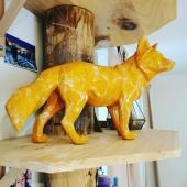 🧡  #renard #orange #chicbohemian #bois #decorationinterieur #decoration #déco #oeuvredart #marbré #finitionunique #àlamain #handmade #artisanatfrancais #madeinfrance