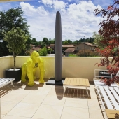 Réalisation sur-mesure 💛 merci pour ta confiance @malvinaoyoko  #jardin #terrasse #gorille #jaune #personnalisation #decorationinterieur #decorationexterieur #handmade🎨🖌 #madeinfrance🇫🇷 #peinturedecarrosserie #graffiti #graphicdesign #handwithlove❤️ #statuedesign #statuedeco #statueunique