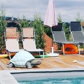 🐢🌴🌞  #handmade #ilovemyjob❤️ #tortue #zoo #animaux #soleil #été #vacances #piscine #decorationinterieur #decorationexterieur #art #statue