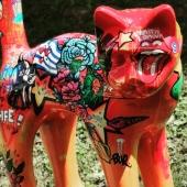 Collab' avec @bur_artist 🌹🎨 comme d'habitude, c'est magnifique... .BRAVO  Bon dimanche à tous 🌞  #poscaart #poscadrawing #posca #oeuvreunique #ouvredart #oeuvrepersonnalisée #art #streetart #lovemyjob❤️ #chat #zoo #statuedesign #statueunique #statueresine