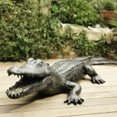 🐊 🖤  #crocodile🐊 #crocodiles #zoo #craquelé #artist #artisanatfrancais #surmesure #oeuvreunique #xl #terrasse #decorationinterieure #decoaddict #decorationexterieur
