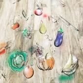 Swen'Art customise votre univers 🎨  Ici, un avant après d'une réalisation sur-mesure, une table de 3 mètres remise à neuf et personnalisée à l'image de son propriétaire 👍 Que du bonheur 🥑🍒🍓🌶️  Merci @laurentsicresas  #custom #handmade🎨🖌 #handwithlove❤️ #personnalisation #customization #unique #mobilierdecuisine #cuisinistes #cuisine #passion #oeuvredart #légumes #couteaucuisine #mobiliersurmesure #artist #artsiteslyonnais