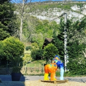 Le gorille Victor dans son environnement ! 🦍☀️ Encore bravo @bur_artist
